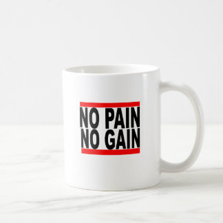 no pain no gain tshirt.png basic white mug