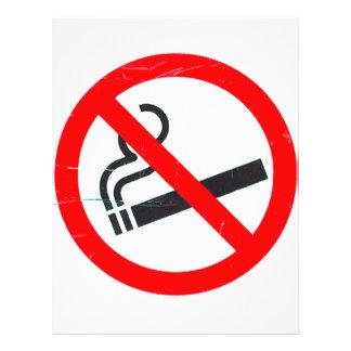 No smoking 21.5 cm x 28 cm flyer