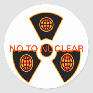 """No To Nuclear""* Round Sticker"