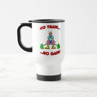 No Train No Gain! Stainless Steel Travel Mug