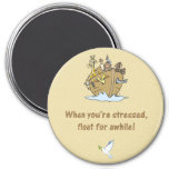 noah and ark with lesson learned from the ark 7.5 cm round magnet
