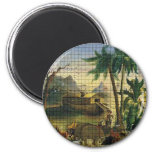 Noah and the Ark 6 Cm Round Magnet