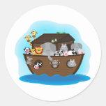Noah's Ark Round Sticker