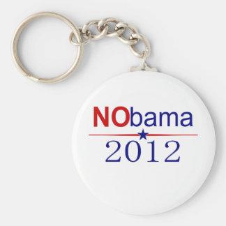 NObama 2012 election Basic Round Button Key Ring