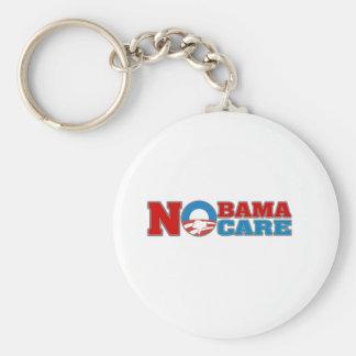 NObama Care Basic Round Button Key Ring