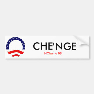 Nobama Che'nge Bumper Sticker