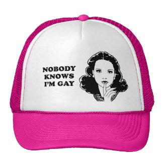 NOBODY KNOWS I'M GAY CAP
