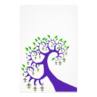 NOLA FLEUR DE LIS TREE CUSTOMIZED STATIONERY