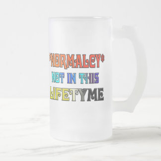 *NORMALCY* Not In This Lifetyme Frosted Glass Mug