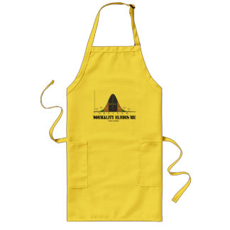 Normality Eludes Me (Statistics Humor) Long Apron