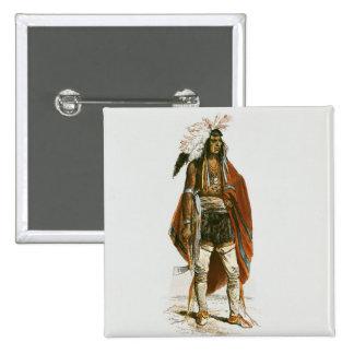 North American Indian 15 Cm Square Badge