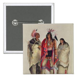 North American Indians, c.1832 15 Cm Square Badge