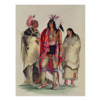 North American Indians, c.1832 Postcard