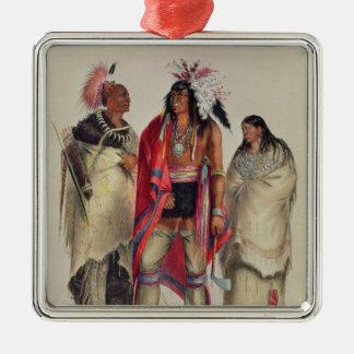 North American Indians, c.1832 Silver-Colored Square Decoration