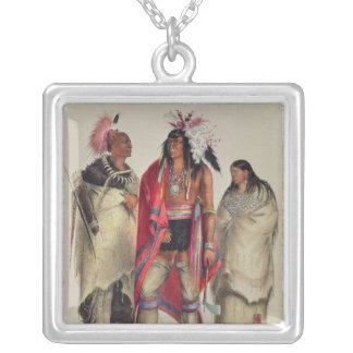 North American Indians, c.1832 Square Pendant Necklace