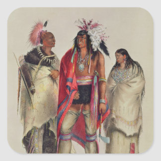 North American Indians, c.1832 Square Sticker