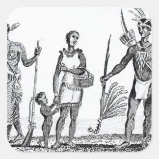 North American Indians Square Sticker