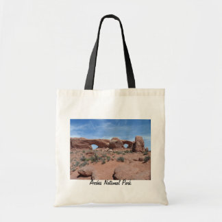North and South Windows- Arches National Park Budget Tote Bag