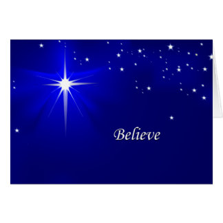 North Star Believe Christian Christmas Greeting Greeting Card