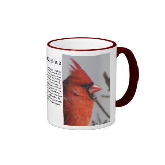 Northern Cardinals... Ringer Mug