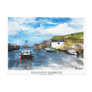Northern Ireland Scenery Stretched Canvas Print