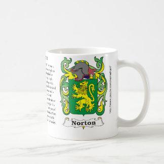 Norton Family Coat of Arms mug