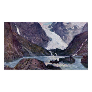 Norwegian glacier pack of standard business cards
