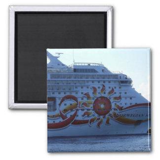 Norwegian Sun Square Magnet