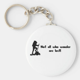 Not all who wander... basic round button key ring
