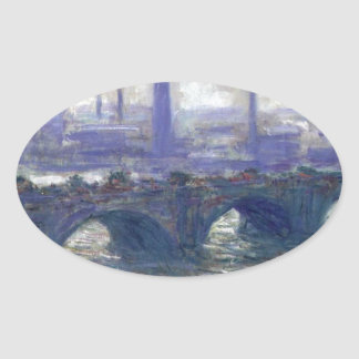 NOT DETECTED by Claude Monet Oval Sticker