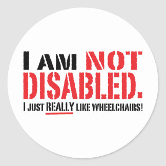 Not Disabled Sticker