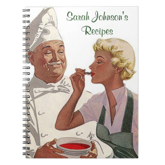 Notebook Vintage Personalized Recipe Cookbook Chef