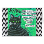 NOTECARD-DOGS FEARED HIM, CATS REVERED HIM NOTE CARD