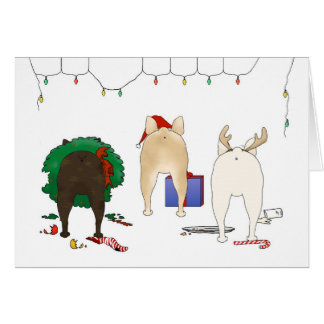 Nothin' Butt A Frenchie Christmas Greeting Card