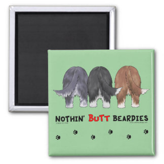 Nothin' Butt Beardies Square Magnet
