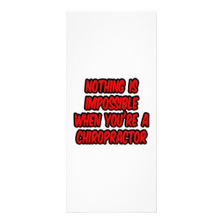 Nothing Is Impossible...Chiropractor Rack Card Design