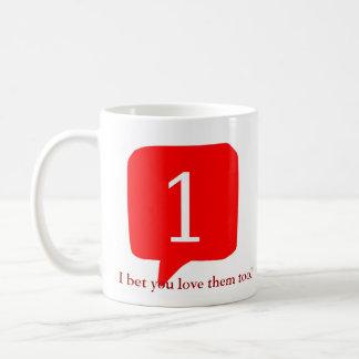 Notifications, I bet you love them too! Basic White Mug