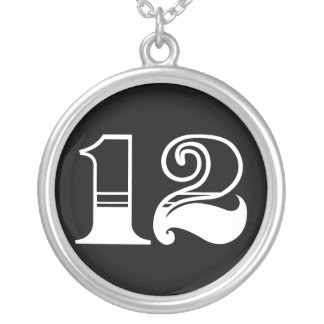 Number 12 necklace