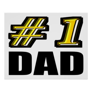 Number 1 Dad Poster