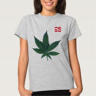 number-95 pot leaf t-shirt design