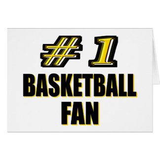 Number One Basketball Fan Greeting Card