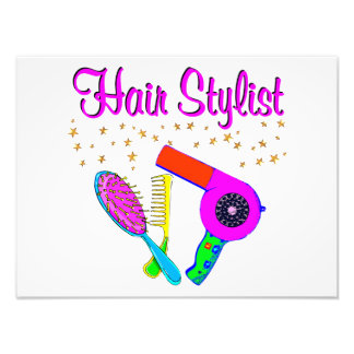NUMBER ONE HAIR STYLIST AND BEAUTICIAN PHOTOGRAPHIC PRINT