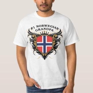 Number One Norwegian Grandpa Tshirt