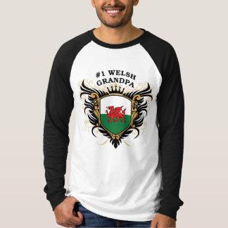 Number One Welsh Grandpa T Shirt