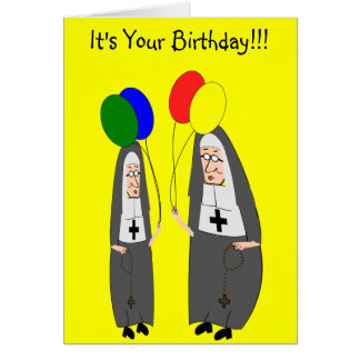 Nun Birthday Gifts Greeting Card