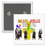 Nuns Golden Jubilee Gifts 15 Cm Square Badge