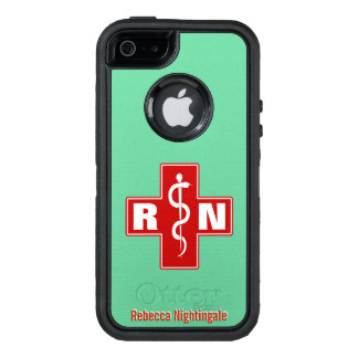 Nurse Cross Initials Name Template OtterBox iPhone 5/5s/SE Case