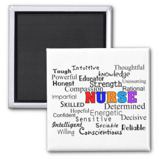 Nurse Describing Words Gifts Square Magnet