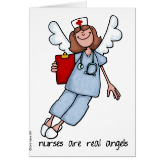 nurses are real angels greeting card