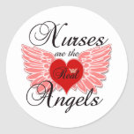 Nurses Are The Real Angels Round Sticker
